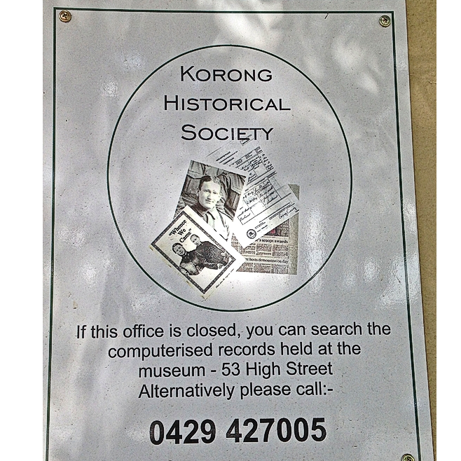 Korong (Wedderburn) Historical Society